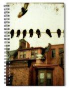 Bird Cityscape Spiral Notebook