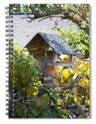 Bird Feeder Amongest The Grapevines Spiral Notebook
