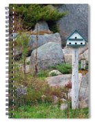 Bird House And Chimes Spiral Notebook
