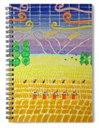 Bird Hunting Lower Valley With Chocolate Labs Spiral Notebook