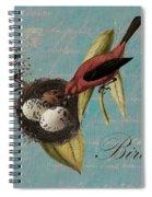 Bird Nest - 02v02t01 Spiral Notebook
