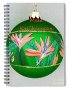 Bird Of Paradise Christmas Bulb Spiral Notebook