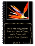 Bird Of Paradise Flower With Bible Quote From Isaiah Spiral Notebook
