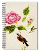 Bird On A Flower Spiral Notebook