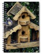 Bird On A House Spiral Notebook