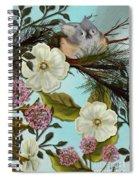 Bird On Pine Branch Spiral Notebook
