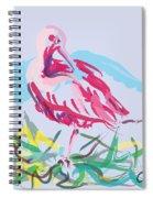 Bird Red Ibis Spiral Notebook