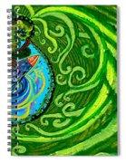 Bird Song Swirl Spiral Notebook