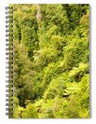 Bird View Of Lush Green Sub-tropical Nz Rainforest Spiral Notebook