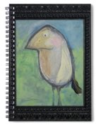 Bird With Found Feather Spiral Notebook