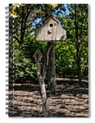 Birdhouses In The Trees Spiral Notebook