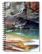 Birdrock Waterfall In Spring 2 Spiral Notebook
