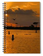 Birds And Bouys Sunrise Spiral Notebook