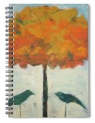 Birds And Maple Spiral Notebook