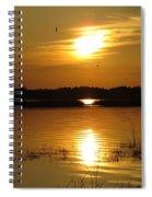 Birds At Sunset Spiral Notebook