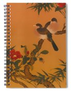 Birds Bamboo And Camellias Spiral Notebook