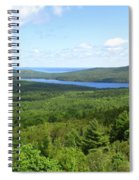 Bird's Eye View Of Eagle Lake Spiral Notebook