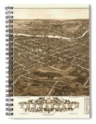 Bird's-eye View Of Youngstown Ohio 1882 Spiral Notebook