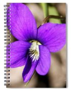 Birds Foot Violet Spiral Notebook