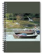 Birds In Flight At The Lake Spiral Notebook