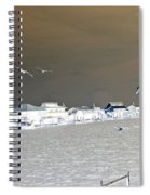 Birds In Flight Over Lafitte Bay Spiral Notebook