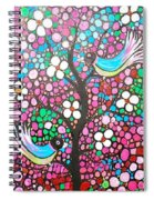 Birds In The Summer Breeze Spiral Notebook