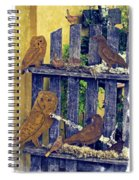 Birds Of A Feather Stay Together Spiral Notebook