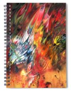 Birds On Fire Spiral Notebook