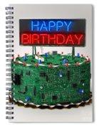 Birthday Cake For Geeks Spiral Notebook