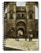 Bisagra Gate And Courtyard Spiral Notebook