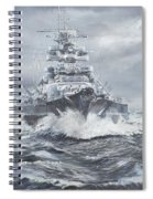 Bismarck Off Greenland Coast  Spiral Notebook
