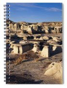 Bisti Badlands Pano Spiral Notebook