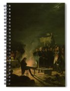Bivouac Of Napoleon I 1769-1821 On The Battlefield Of The Battle Of Wagram, 5th-6th July 1809, 1810 Spiral Notebook