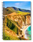 Bixby Creek Bridge Oil On Canvas Spiral Notebook