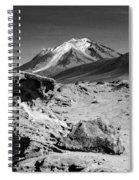 Bizarre Landscape Bolivia Black And White Spiral Notebook