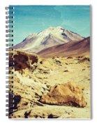 Bizarre Landscape Bolivia Old Postcard Spiral Notebook