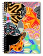 Bizzarro Colorful Psychedelic Floral Abstract Spiral Notebook