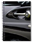 Black 57 Thunderbird Spiral Notebook