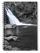 Black And Color Waterfall Spiral Notebook