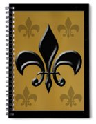 Black And Gold Spiral Notebook
