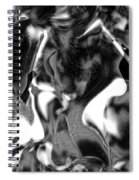 Black And Indeed White Spiral Notebook