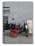 Black And Red Horse Carriage - Vienna Austria  Spiral Notebook