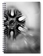 Black And White Abstract Burst Spiral Notebook