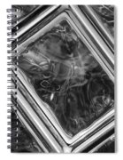 Black And White Abstract Spiral Notebook