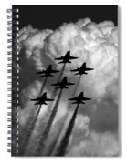 Black And White And Blue Angels Spiral Notebook