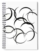 Black And White Art - 133 Spiral Notebook