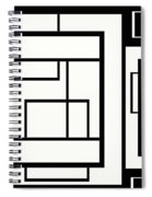 Black And White Art - 154 Spiral Notebook