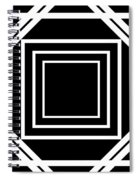 Black And White Art 174 Spiral Notebook