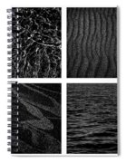 Black And White Beach Spiral Notebook