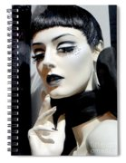 Black And White Beauty Spiral Notebook